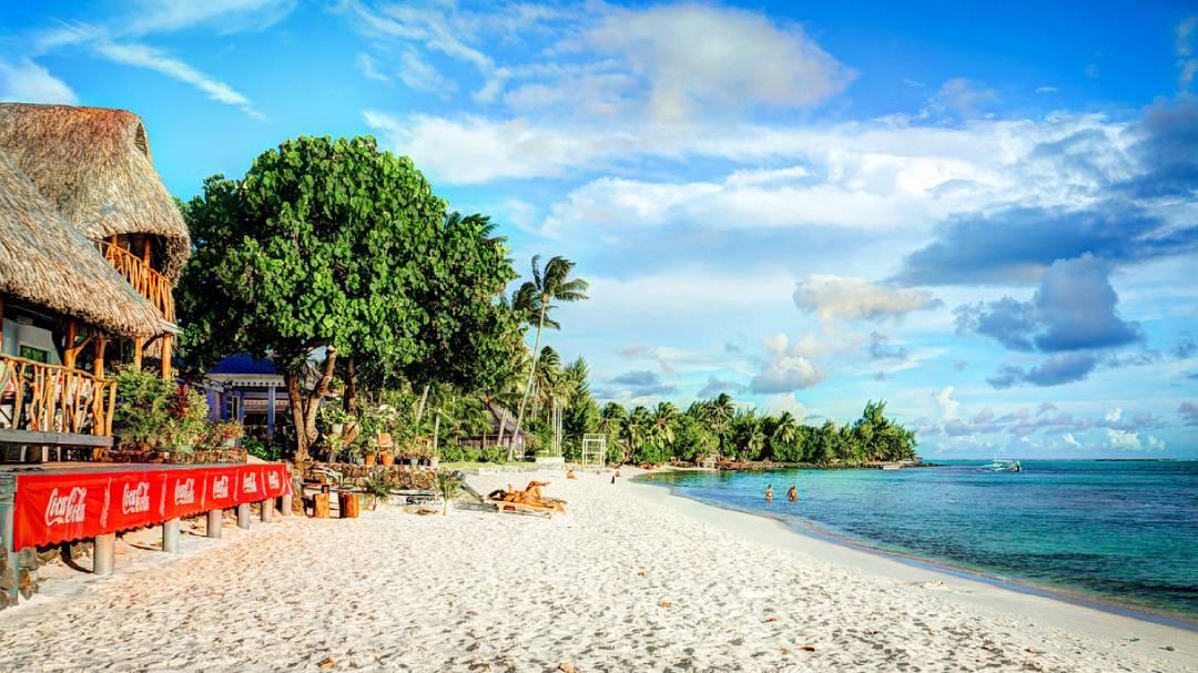 Matira Beach view Bora Bora