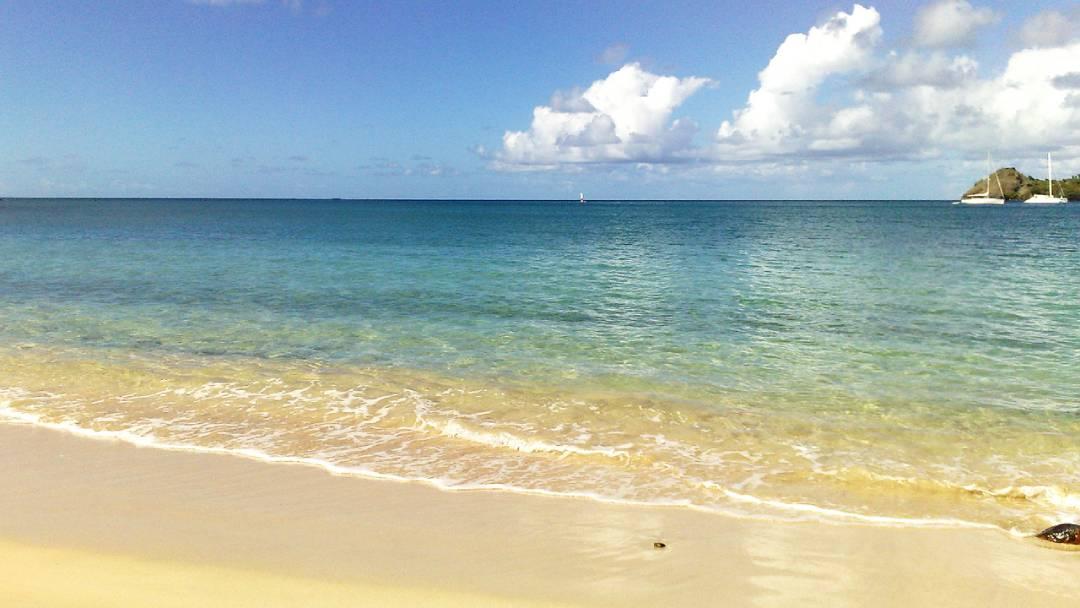 St. Lucia beach view