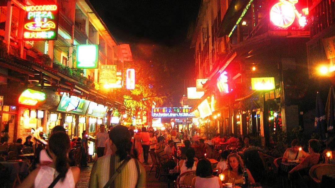 Yangshuo city streets