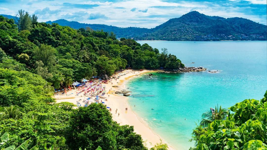 beach and harbor view on Phuket