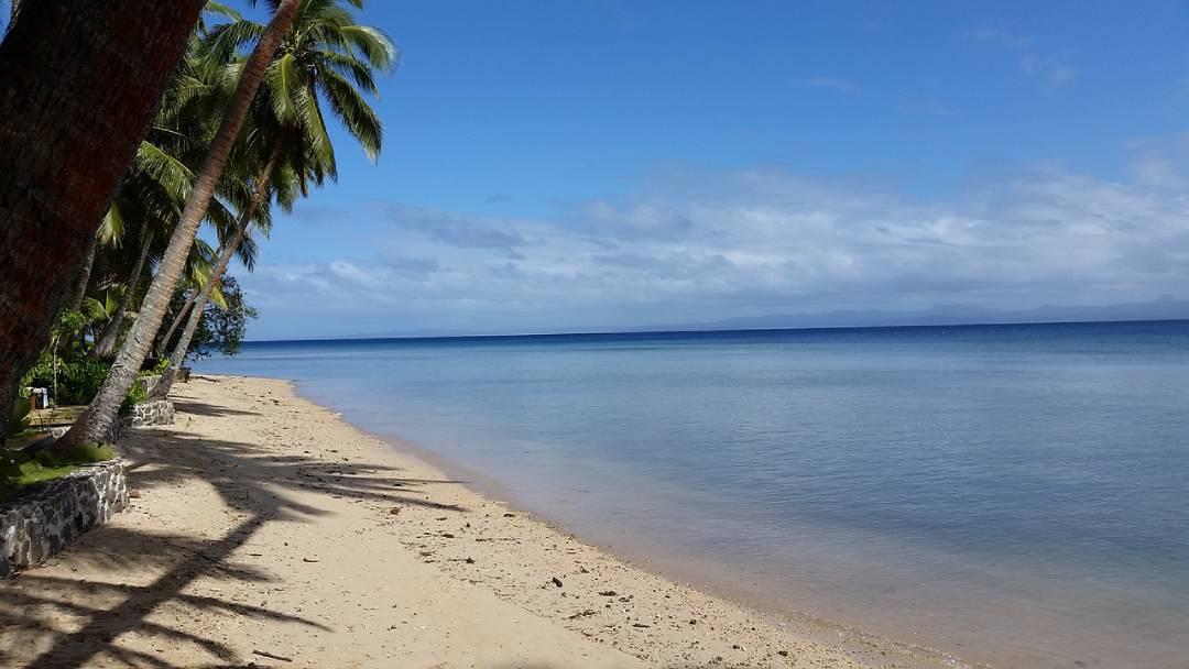 beach on Fiji on sunny day