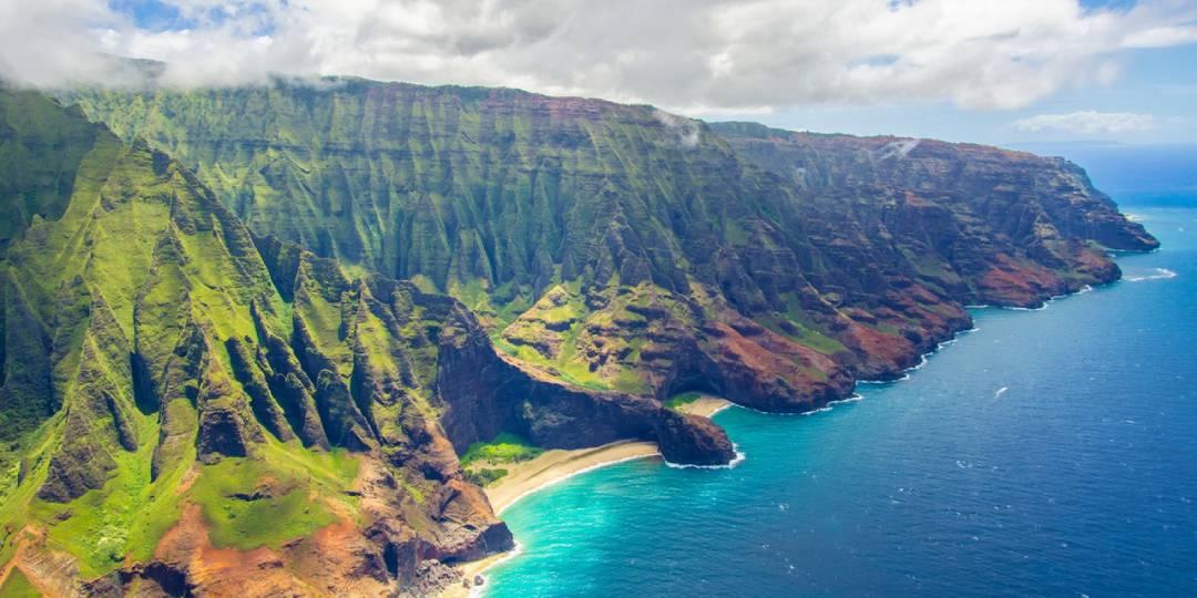 ocean shore Oahu, Hawaii