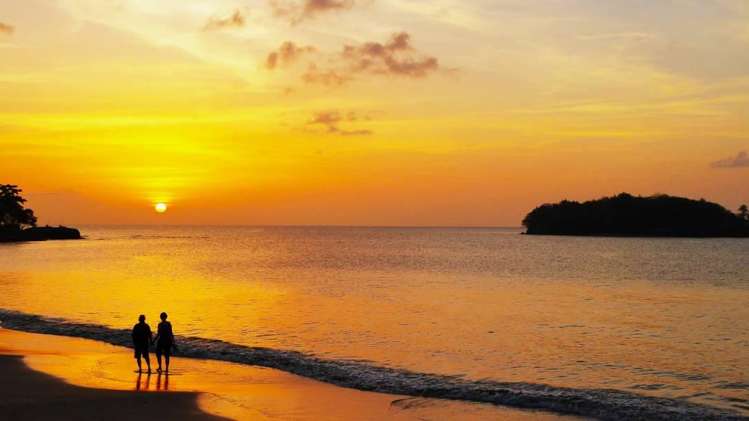 sunset at Saint Lucia Islands