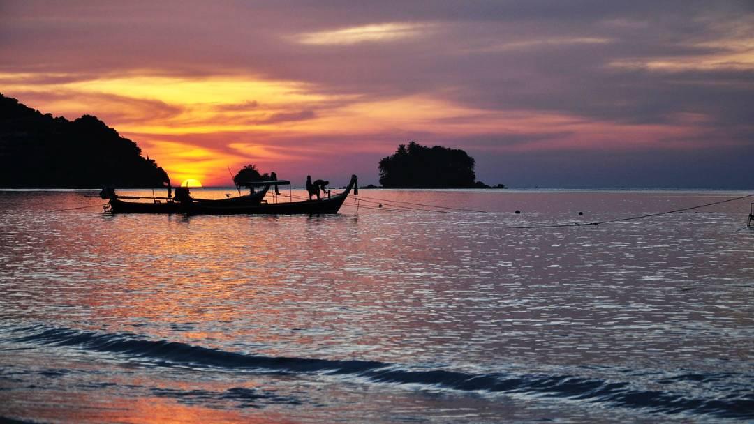 sunset at Phuket, Thailand