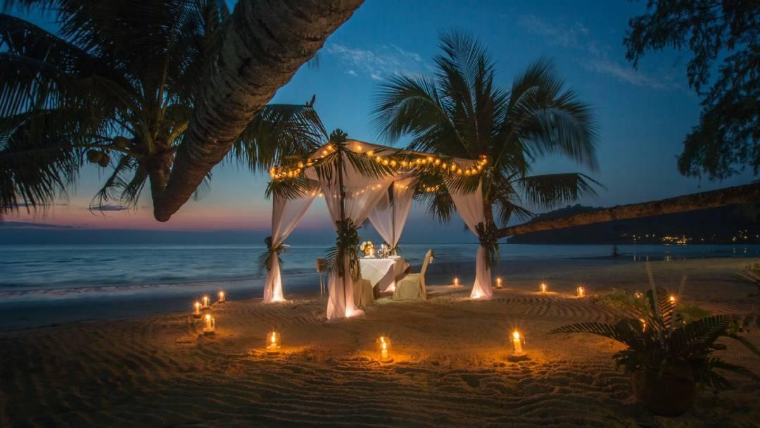 white canopy tent near coastline Zanzibar