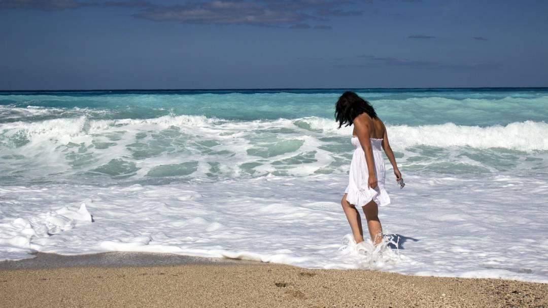 woman on a beach, Nicaragua