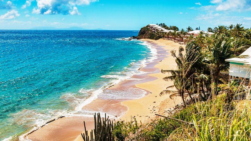 Antigua beach view