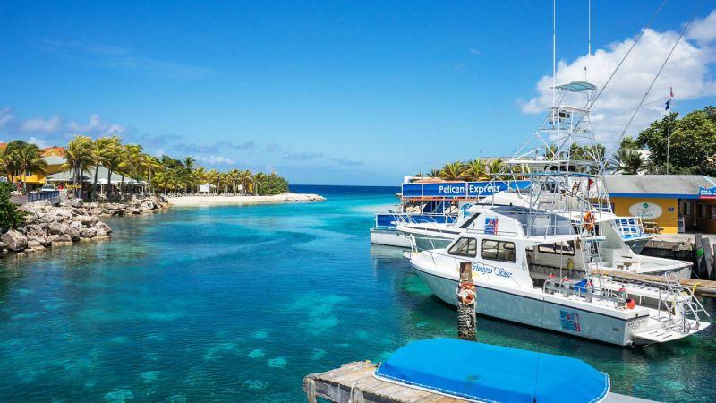 Willemstad lagoon Curacao