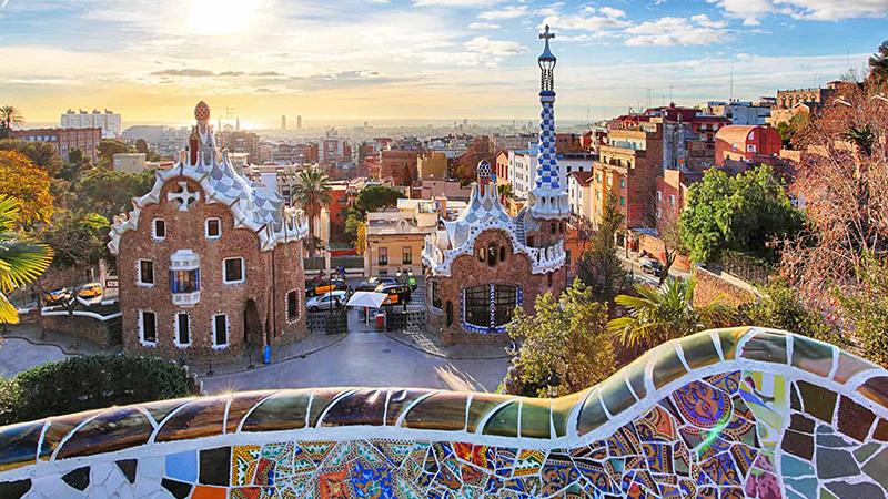 honeymoon in Barcelona,-Spain
