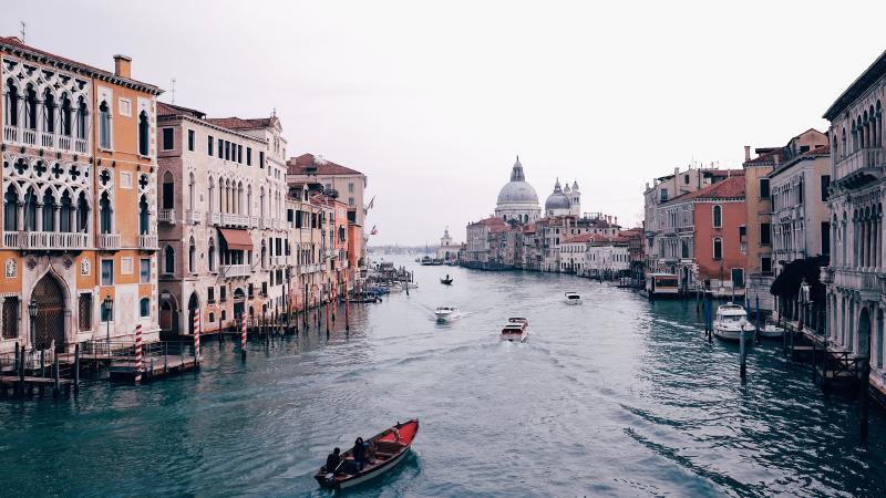 travel to Venice, Italy.