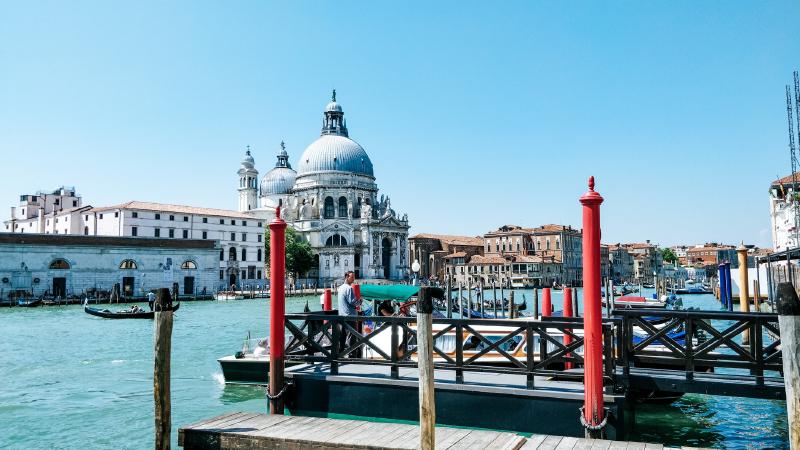 honeymoon in Venice, Italy